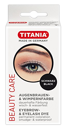 TITANIA Augenbrauen-, und Wimpernfarbe, in Schachtel mit Euroloch, schwarz, 1er Pack (1 x 64 g)