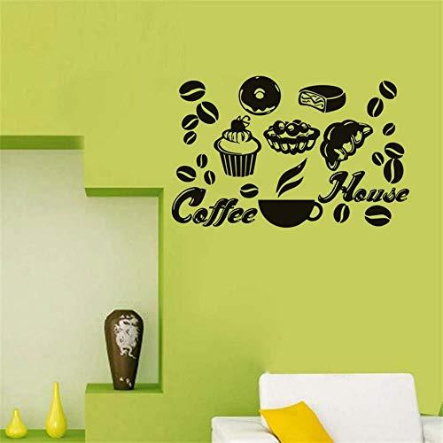 eber Kuchen Eis Kaffeebohnen Leckeres Essen Vinyl Tapete Esszimmer Restaurant Decor93 * 58 cm ()