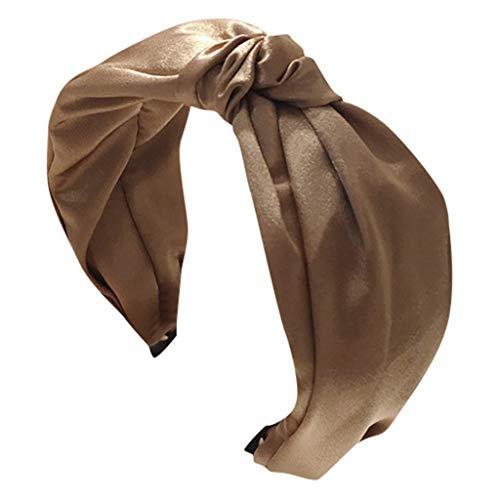 HAUXIN❤ 20er Jahre Flapper Haarband Jahrgang Blume Gedruckt Criss Cross Elastische Frauen Mädchen Haarband Kopfband Stirnband Seidenmatte Optik Bandana Für Flechtfrisuren Vintage Haarband