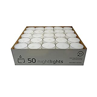 Olore Home Clear Cup Tealights in a Pack of 50 Long Burn time up 7 - 8 Hrs
