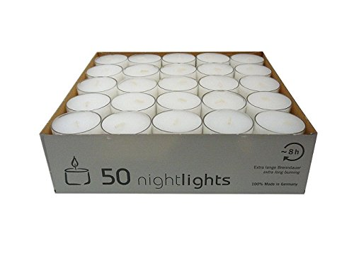 wenzel-kerzen-23-217-50-uk-nightlights-set-50-candele-con-contenitore-in-plastica-durata-illuminazio