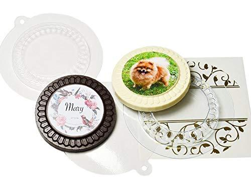 1pc Custom-Award-Medaille Basis Personifizierte Kundengebundene Medallion-Kunststoff-Seife die Herstellung von Schokolade Gips-Form-Food-Grade-Form 80x80x10mm (Medallion-awards)