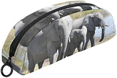 Animal éléphants Trousse Pochette Pochette Pochette Sac Fermeture Éclair Petit sac Maquillage articles de papeterie pour enfants Fille ado garçon l'école B07HRJXW2M   Paris  8c376d