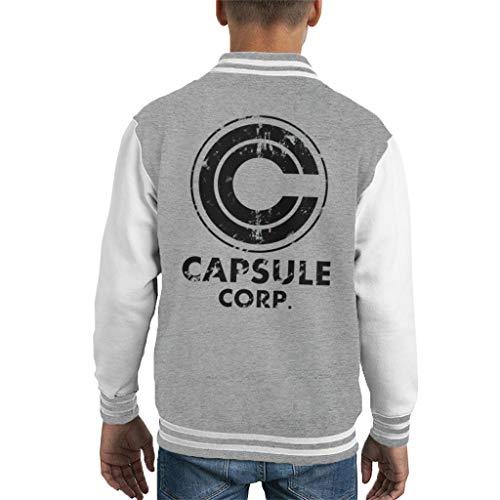 Distressed Capsule Corp Logo Dragon Ball Z Kid's Varsity Jacket