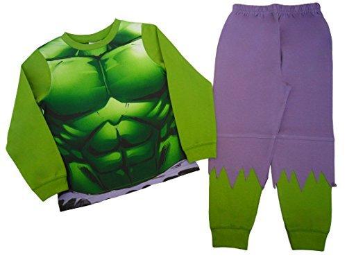 Jungen Schlafanzug Incredible Hulk EU 92/98 bis 122/128 - Grün, EU 110/116 (Schlafanzug Jungen)