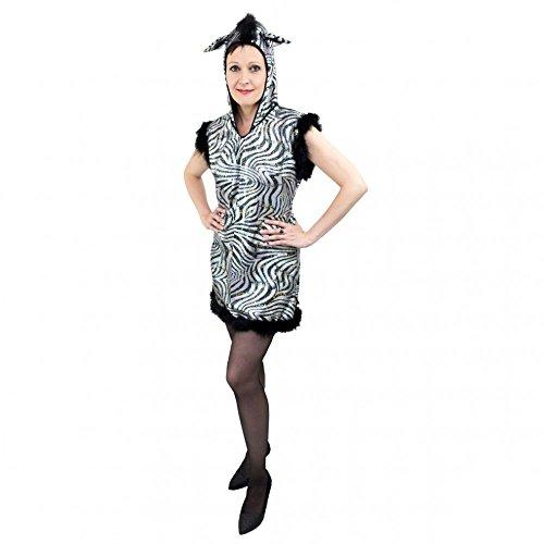Fasching Kostüm Damen Afrika - Krause & Sohn Kostüm Zebra Gr.