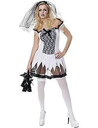 Sexy Zombiebraut-Kostüm - für Damen - Halloween-Kostüm - Einheitsgröße