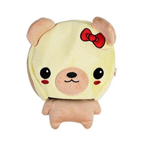 Kelaina Dessin animé de souris USB chauffant Chauffe-mains Tapis de souris avec protection de poignet, Light Yellow Bear, 22.5*21cm