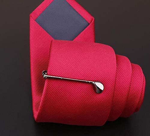 CHENFUI Krawattenklammer in Golfschlagschlagform, charakteristischer Stil, Krawattenklammer für Hochzeiten, Herren (schwarz)