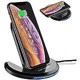 ELEGIANT Caricatore Wireless, Caricabatterie a induzione 10W Universale Senza Fili per iPhone XS Max XR x 8s iPad Samsung s10 s9 s8+ Huawei Mate 20 P30 PRO Xiaomi 9 Bordo Nota Nokia Google Nexus