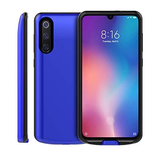 Mengdeno Akku Hülle für Xiaomi Mi 9 SE 5000mAh Battery, tragbare Battery Case für Xiaomi Mi 9 SE 5000mAh Battery Akku Case Ladehülle (Blue)