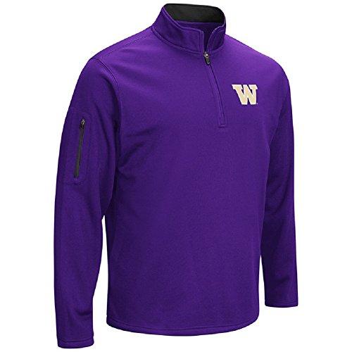 Colosseum NCAA Men \'s VF Poly Fleece 1/4Zip Pullover, Herren, Washington Huskies-Purple
