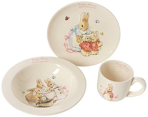 Beatrix Potter Coffret repas 3 pièces Motif lapins