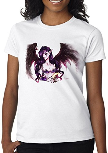 League of Legends Morgana Fallen Angel Women' s Shirt Custom Made T-shirt (XL)