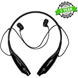 Kingsford HBS730 Bluetooth Earphone Headset With Retractable Earphone Design, Handsfree For Redmi, IPhone And Other Smartphones
