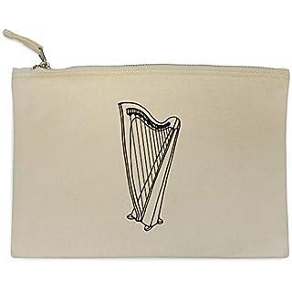 'Harp Instrument' Canvas Clutch Bag / Accessory Case (CL00014178)