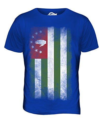 CandyMix Abchasien Verblichen Flagge Herren T Shirt Königsblau