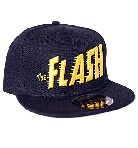 DC Comics The Flash Big Text Black Snapback Cap