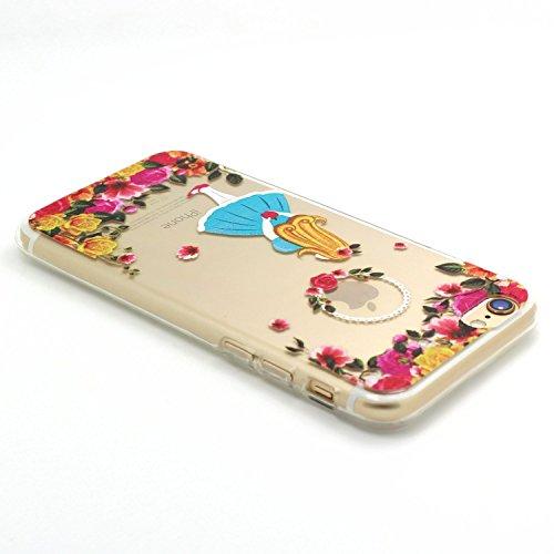 iPhone 6 Coque, JIAXIUFEN TPU Coque Silicone Étui Housse Protecteur pour iPhone 6 6S - Cat Music Swing Color08
