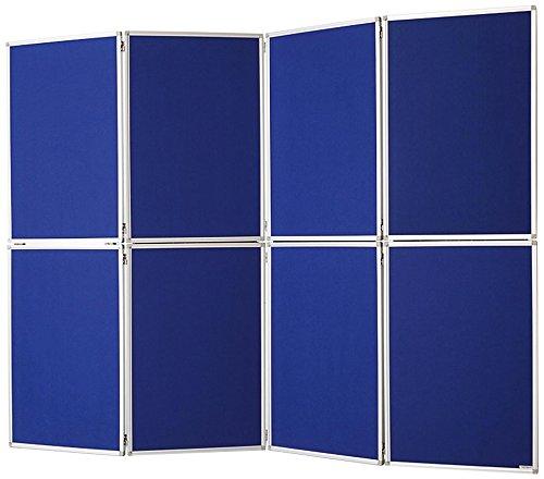 magnetoplan 1101016biombos Fieltro, 8piezas, color azul