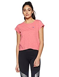 Spunk by fbb Women's Plain Regular Fit Sports T-Shirt