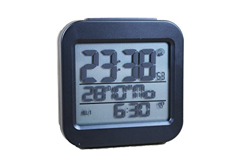 TCM Tchibo Digitaler Funkwecker mit LC Display Wecker schwarz Funk Temperaturanzeige