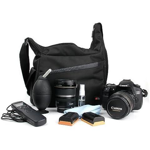 DURAGADGET Mochila Con Compartimentos Con Bandolera Ajustable Para Cámara Nikon D90 Bandolera Al Agua