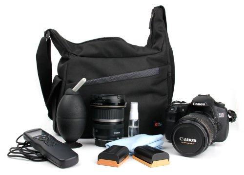 DURAGADGET Mochila Con Compartimentos Con Bandolera Ajustable Para Cámara Nikon D5200/ D5300 /D5100 Bandolera Al Agua