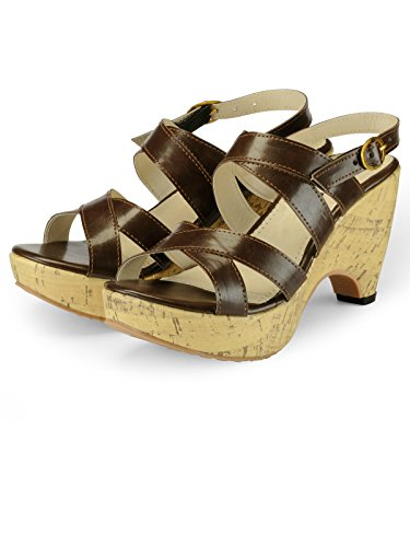 Nell Women Brown Solid Wedges ( Size-39)  available at amazon for Rs.345