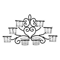 Harmony Glass Candle Holder With Metal Hanger