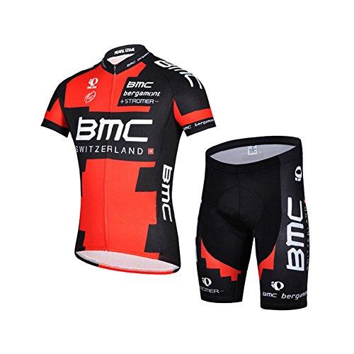 Strgao 2016 Herren Pro Rennen Team BMC MTB Radbekleidung Radtrikot Kurzarm und Radhosen Anzug Cycling Jersey Shorts suit -
