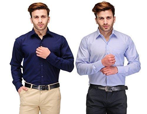 Koolpals Men's Shirt KPC08_FD_NB & SB40_Multicolour_40 (Combo of 2)