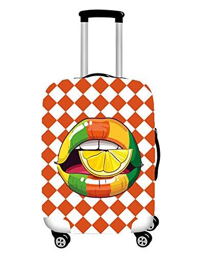 MISSMAO_FASHION2019 Koffer Abdeckung Reisekoffer Hülle Schutzhülle Kofferschutzhülle Mode Lippen Gestalten Style2 XL(Fit 29-32 Zoll Koffer)