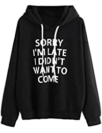 Sudaderas Mujer Marca Fossen Adolescentes Chicas Sudadera con Capucha de Manga Larga Camiseta Blusa - Sorry