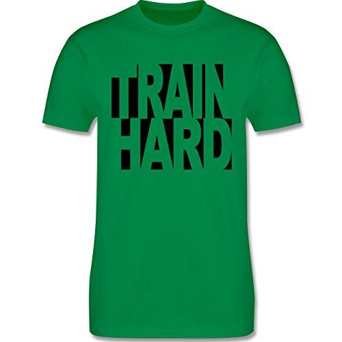 CrossFit & Workout - Train Hard - Herren Premium T-Shirt Grün