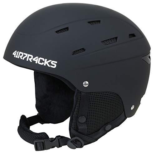 Airtracks Ski- und Snowboardhelm SAVAGE T2X mit Ventilationssystem und stufenloser Anpassung - schwarz - S