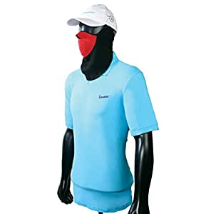 Vespa Men's Polo T-shirt (Light Blue, Large)
