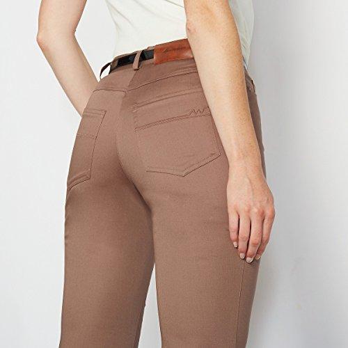 La Redoute Anne Weyburn - Donna Pantaloni 5 tasche in cotone Talpa