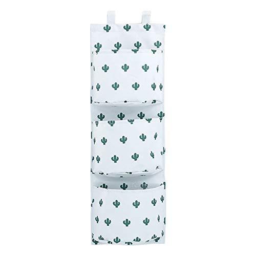 Aikesi portaoggetti da appendere con 3 tasche portatutto da porta e parete in panno oxford sacche portaoggetti per cucina camera da letto bagno ufficio (bianco)