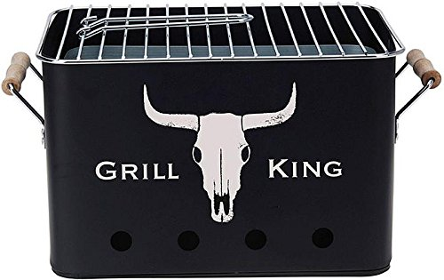 BBQ Grill King |mobiler Barbecue Mini Holzkohle-Grill |Picknickgrill Campinggrill Reisegrill - Holzkohle-grill-event
