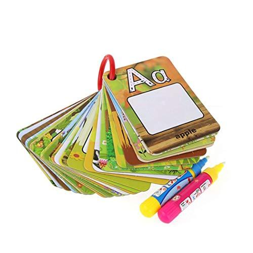 YAGAIU 26 Stücke Infant Alphabete Zahlen Malerei Bord Stift Zeichnung Karte Lernspielzeug Fingerboards, Mini-BMX & Zubehör