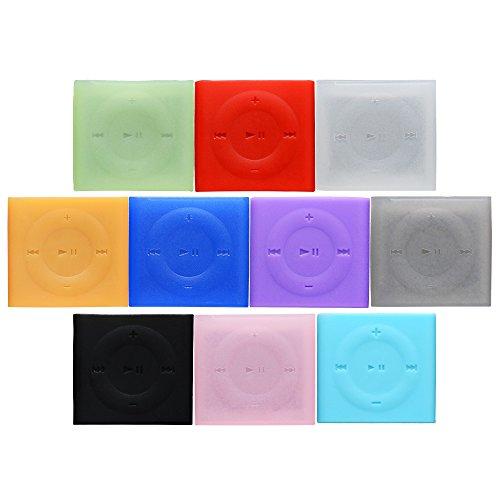 ASIV 10 Stücke Silikon Hülle Schutzhülle für Apple iPod Shuffle 4 generation (Ipod Shuffle Pink)