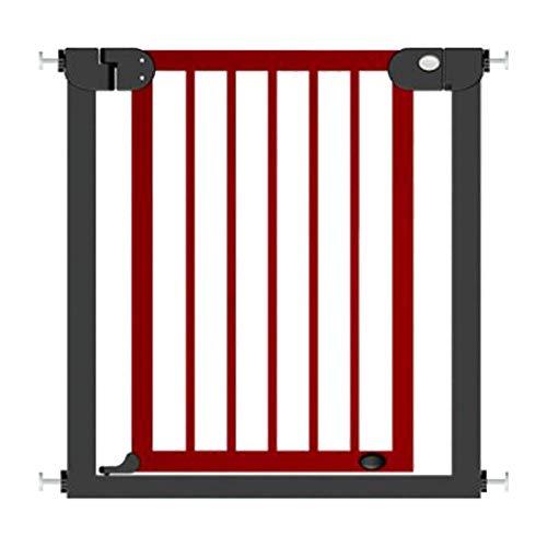 HUO barandilla Barandilla de Seguridad Valla Valla Escalera Valla de Seguridad Valla Infantil (Color : Rojo, Tamaño : 118-125cm)