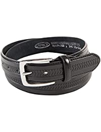 Ossi Mens Casual Leather Belt Trouser Waist Buckle Q5028A