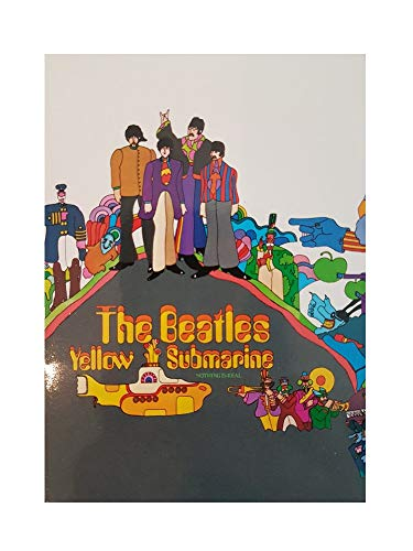 The Beatles - Rock Band Metall Magnet Kühlschrankmagnet (Yellow Submarine Group Shot) 9 x 6,7 cm - Beatles Yellow Submarine Magnet