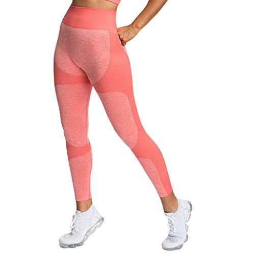 Sonnena Damen Baumwolle Lange Stretch Traininghose Yogahose Jogginghose Lang Hose Sporthose mit Hoher Taille und Tasche für Yoga, Pilates, Fitness,Training Tights Laufhose Figurformende Leggings