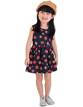 Vestido de niña, RETUROM Vestido sin mangas del verano del Bowknot de una sola pieza de la muchacha ocasional