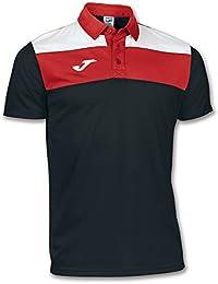 Joma - Polo crew negro-blanco-rojo m/c para hombre