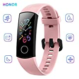 "Honor Band 5 Activity Tracker 0,95"" Schermo AMOLED a Colori 50M Waterproof Heart Rate Monitor Wristbands Bracelet per Diverse modalità Sportive (Rosa)"