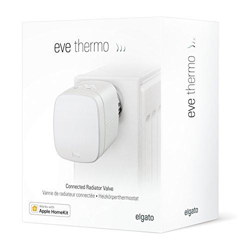 Elgato Eve Thermo (2017) - Heizkörperthermostat mit Apple HomeKit-Technologie, LED-Display, integriertes Touch-Bedienfeld, automatische Temperatursteuerung, keine Bridge erforderlich - Bild 2